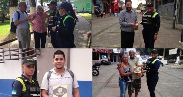 Policía Municipal de Limón realiza campañas de prevención